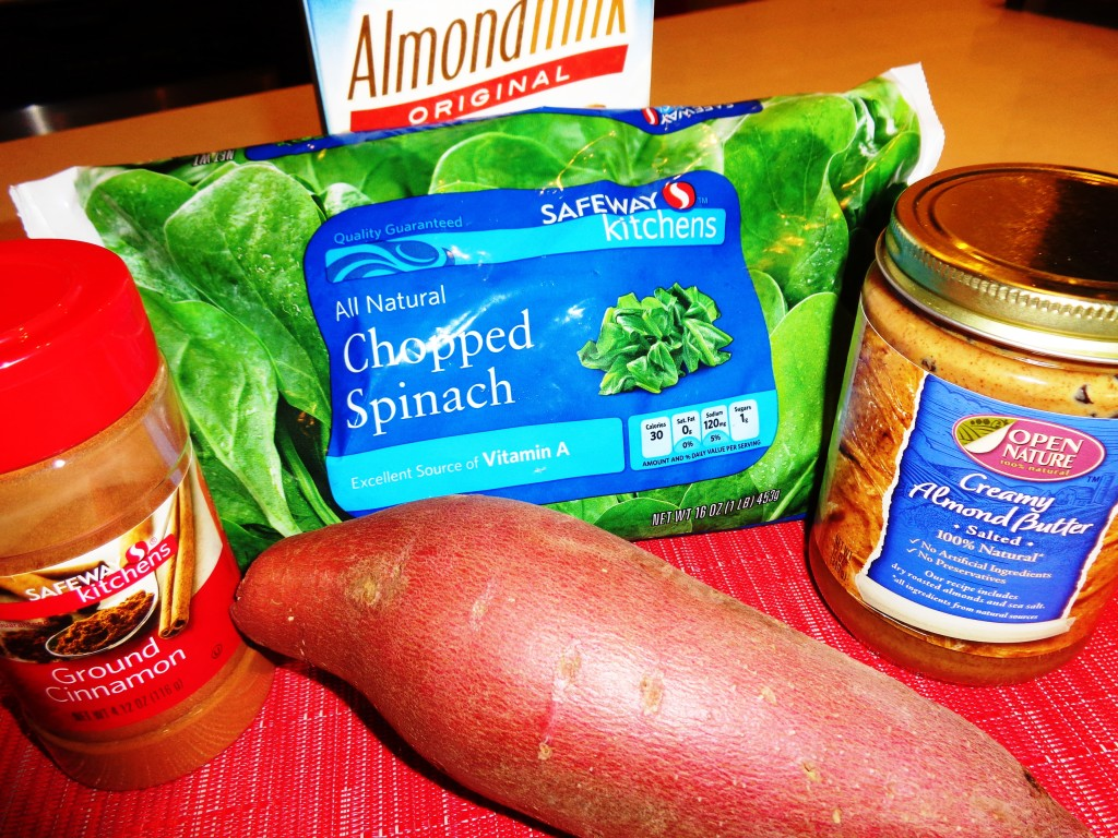 Sweet Potato Smoothie ingredients