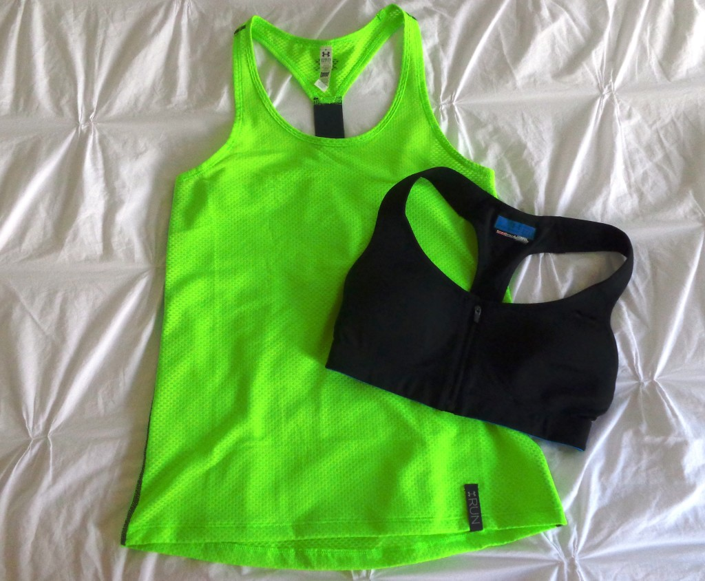 Under Armour top and bra