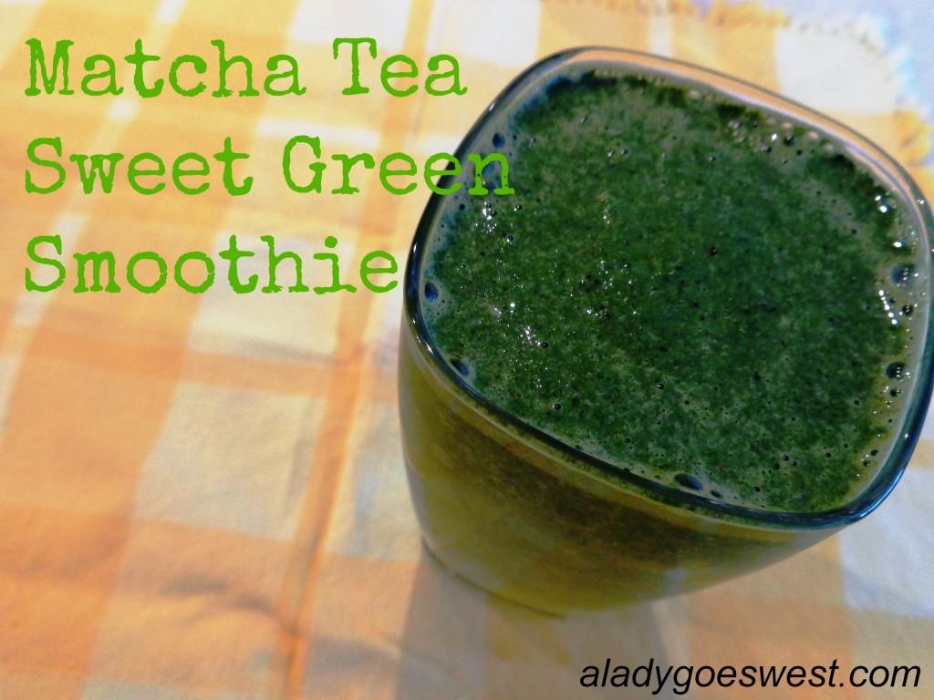 Matcha Tea Sweet Green Smoothie