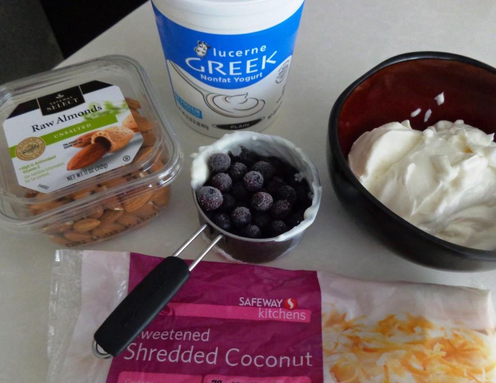 Greek yogurt bark ingredients