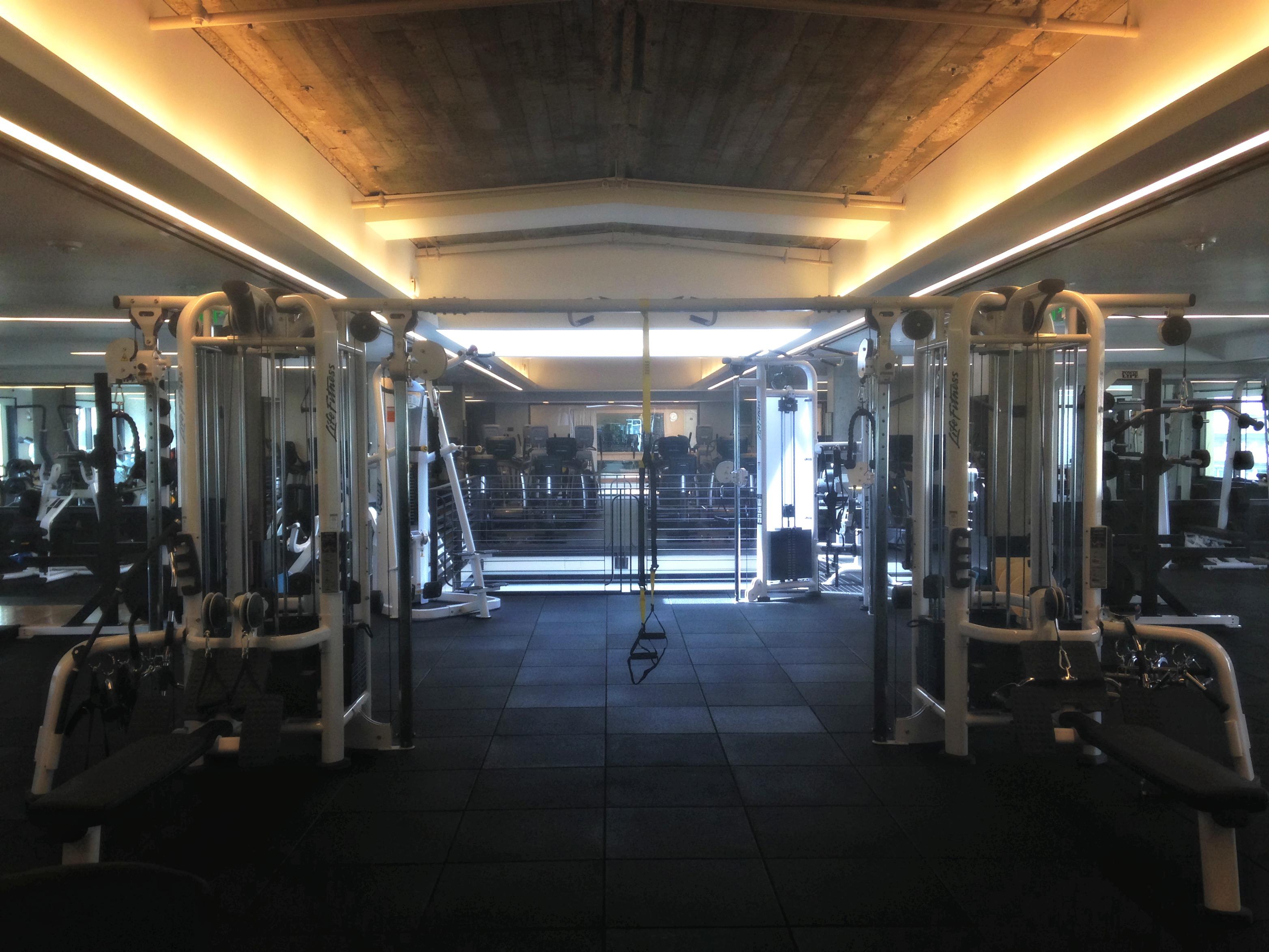 Equinox weight room