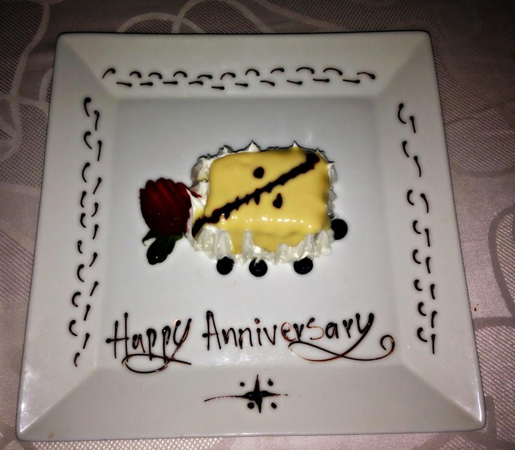 PB anniversary dessert