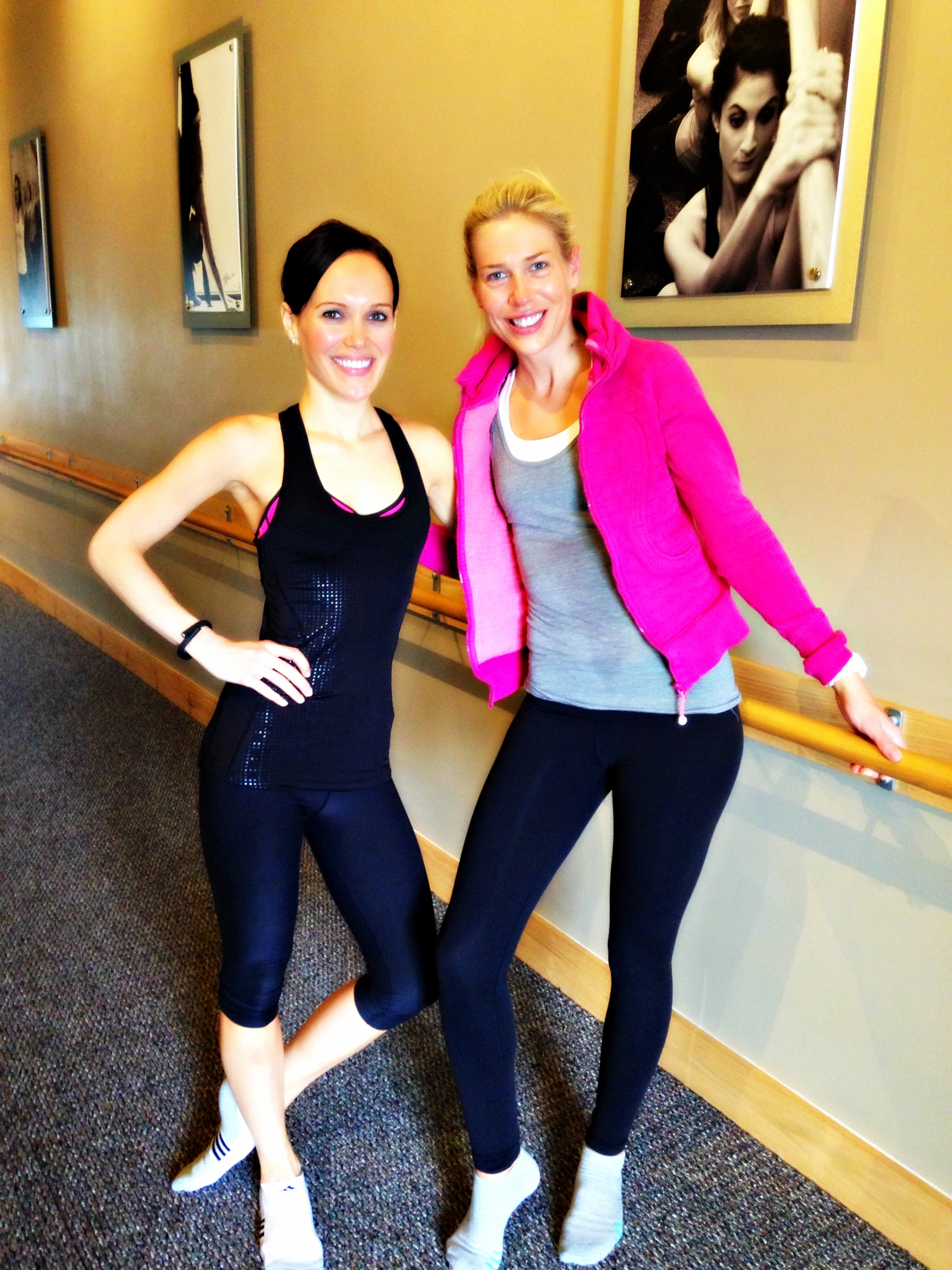 Class review pure barre offers some burn a lady goes west ashley and lauren at pure barre xflitez Gallery