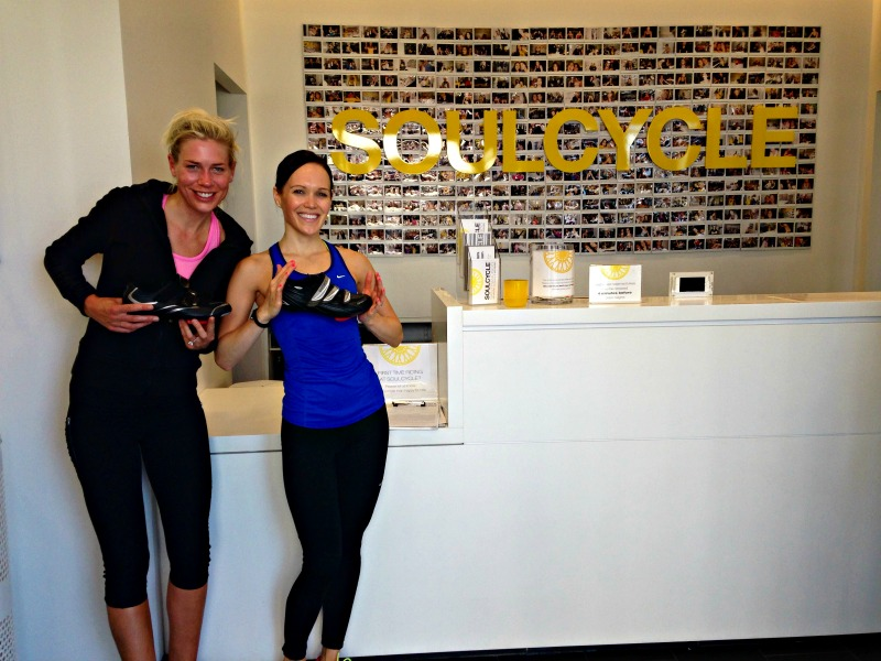 Ashley and Lauren at SoulCycle