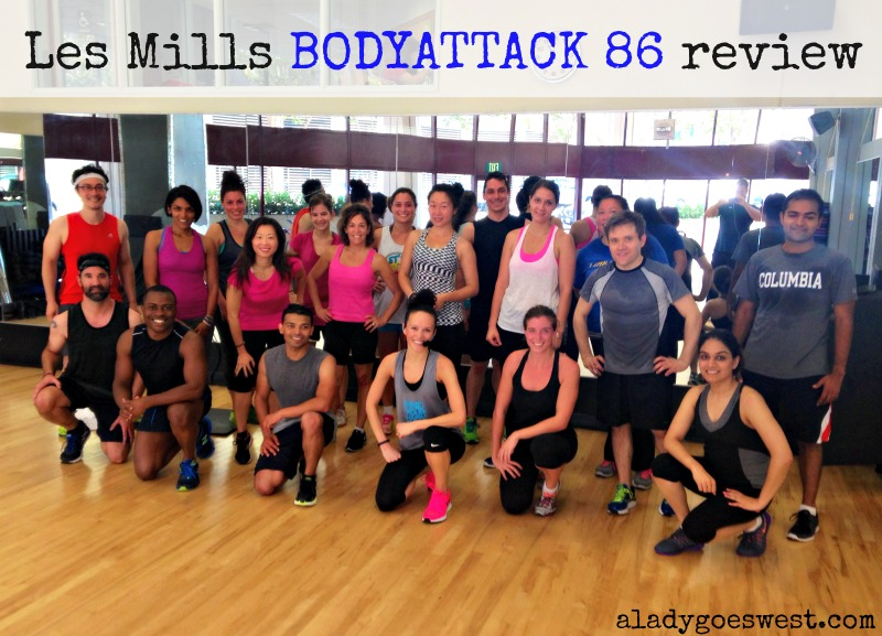 Les Mills BODYATTACK 86 review via A Lady Goes West