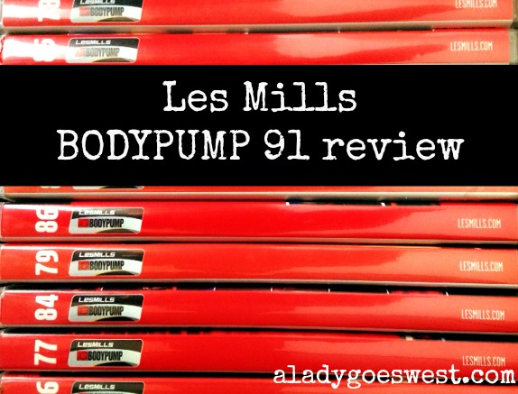 Les Mills BODYUMP 91 review via A Lady Goes West