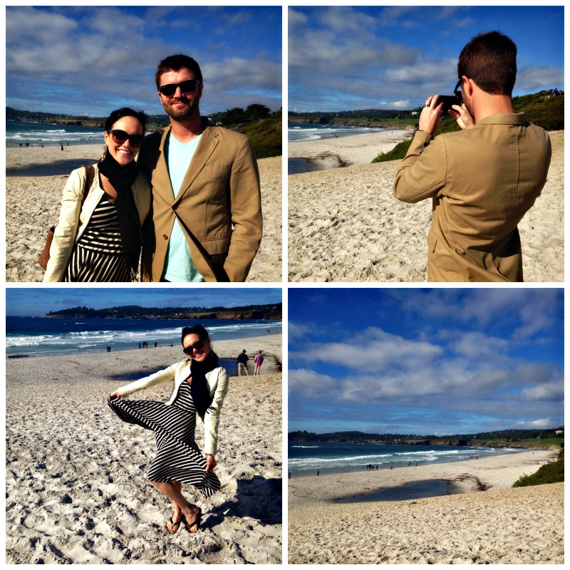 Carmel Beach via A Lady Goes West