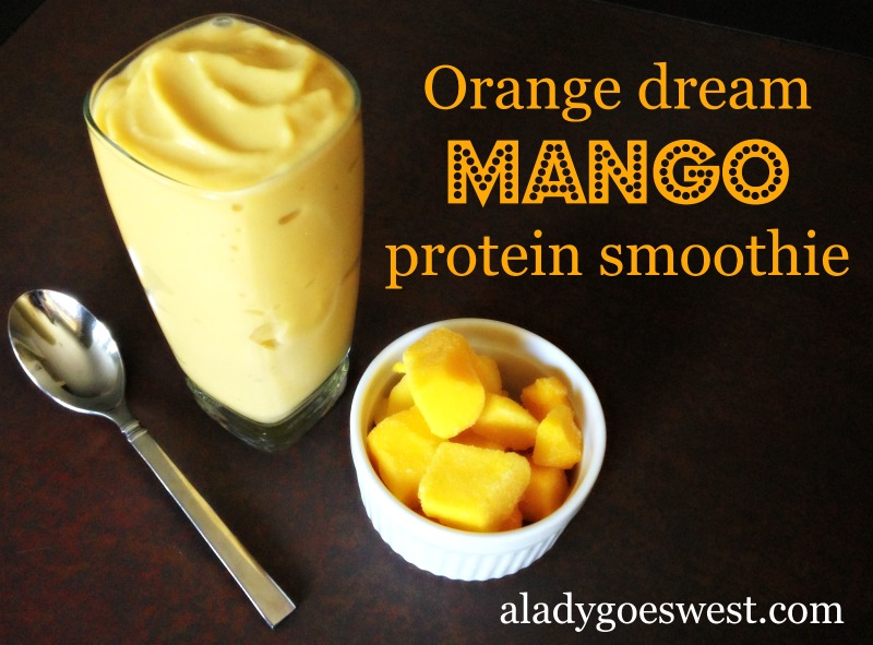Orange dream mango protein smoothie