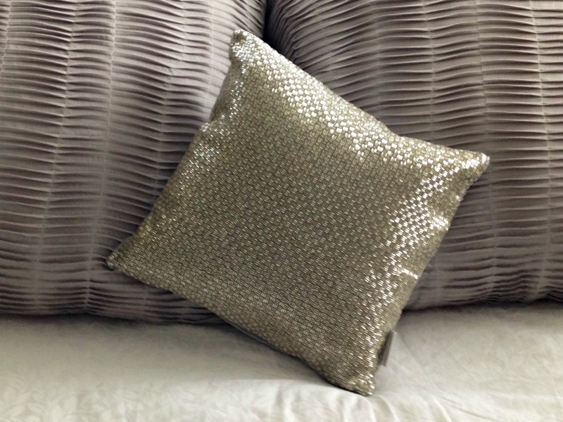 Sparkly pillow