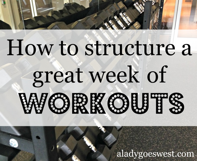 How to structure a great week of workouts via A Lady Goes West