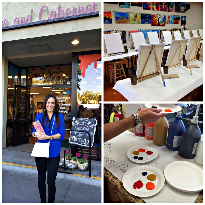 Canvas and Cabernet fun via A Lady Goes West