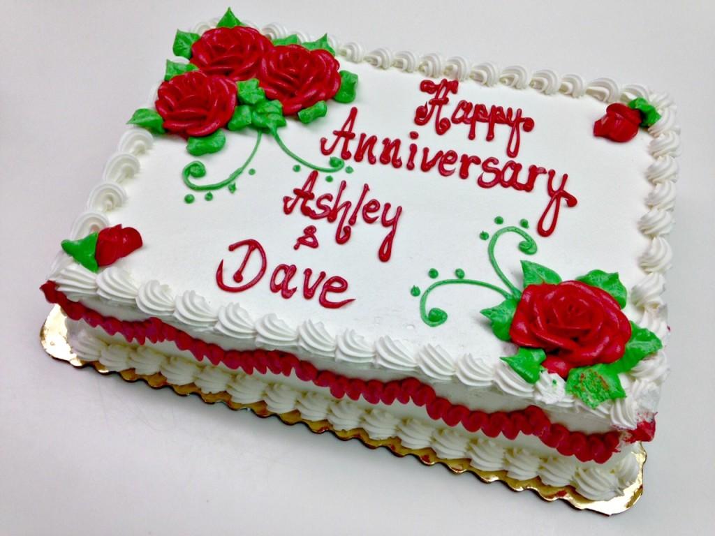Anniversary Publix cake