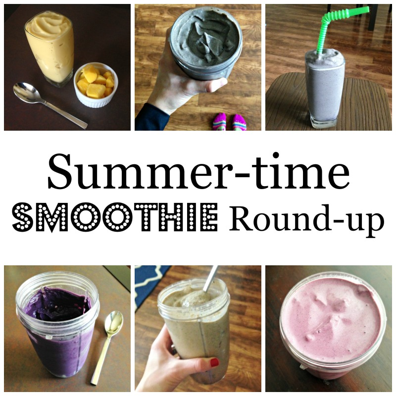 Summer-time smoothie round-up and my workouts