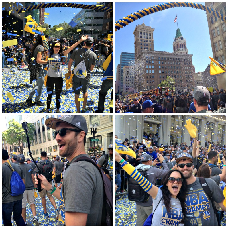 Golden State Warriors parade in downtown Oakland