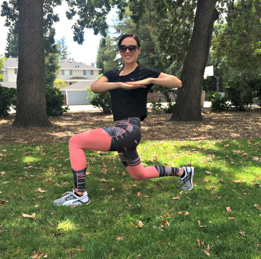 Reverse lunge dynamic warm-up via A Lady Goes West
