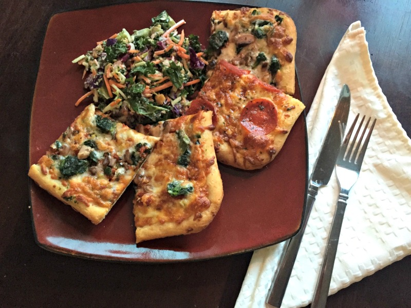 DIGIORNO pizzeria thin pizza dinner for date-night by A Lady Goes West