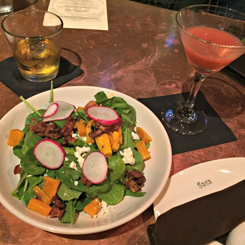 Butternut squash salad at Sasa via A Lady Goes West