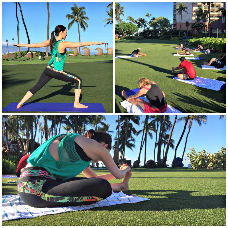Yoga at The Hyatt Maui via A Lady Goes West