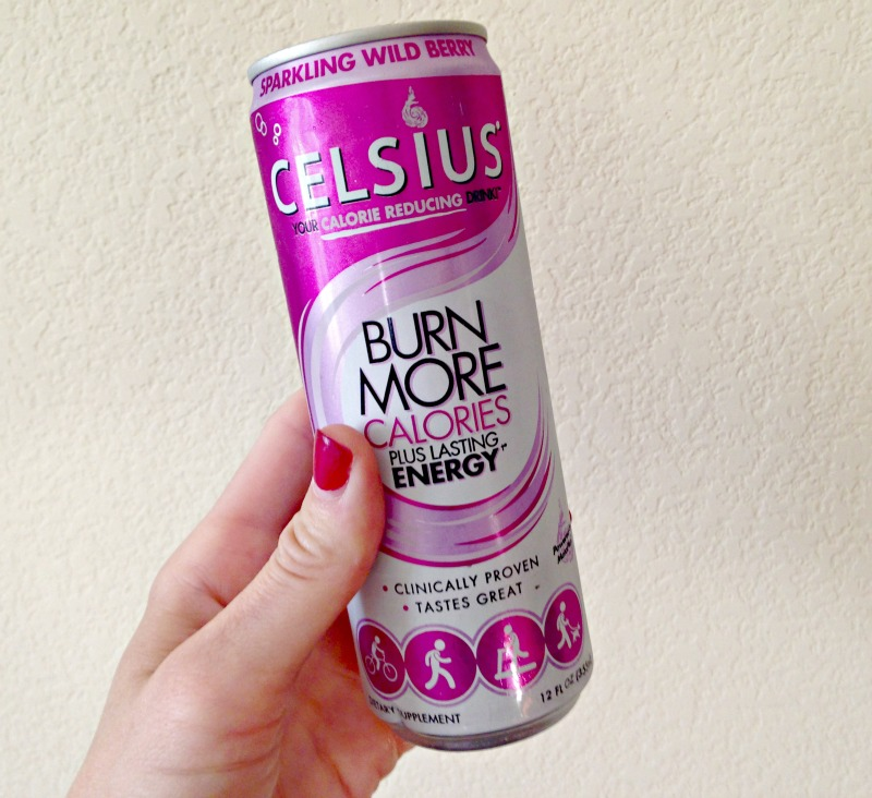 Celsius sparkling wild berry via A Lady Goes West