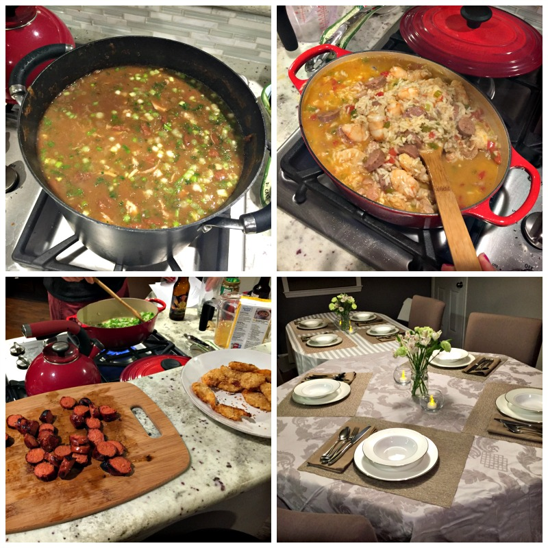 New Orleans dinner party via A Lady Goes West