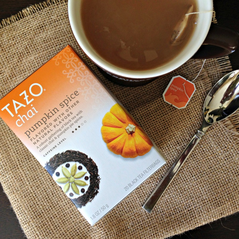 Tazo Chai Pumpkin Spice tea via A Lady Goes West