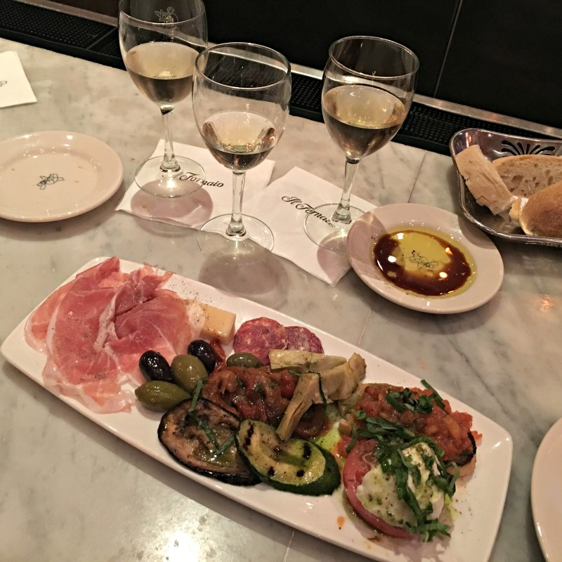 Dinner at the bar at Il Fornaio in Walnut Creek