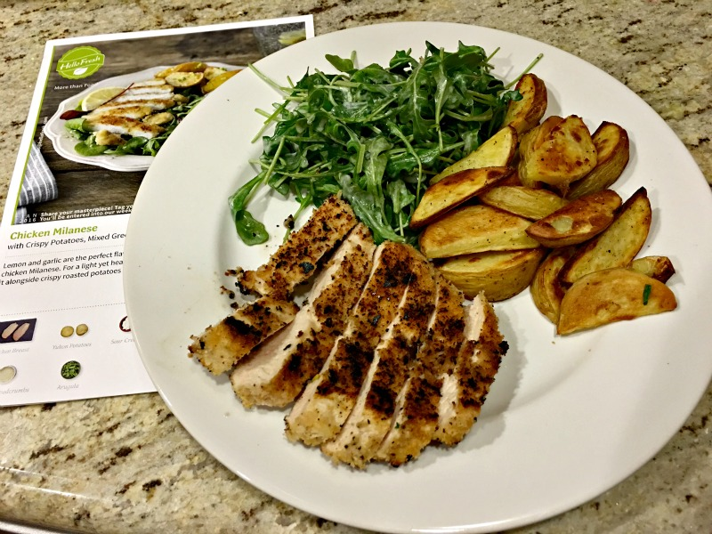 HelloFresh dinner via A Lady Goes West