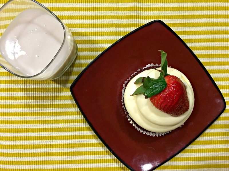 Red velvet cupcake dessert by A Lady Goes West