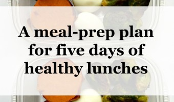 A meal-prep plan for five days of healthy lunches