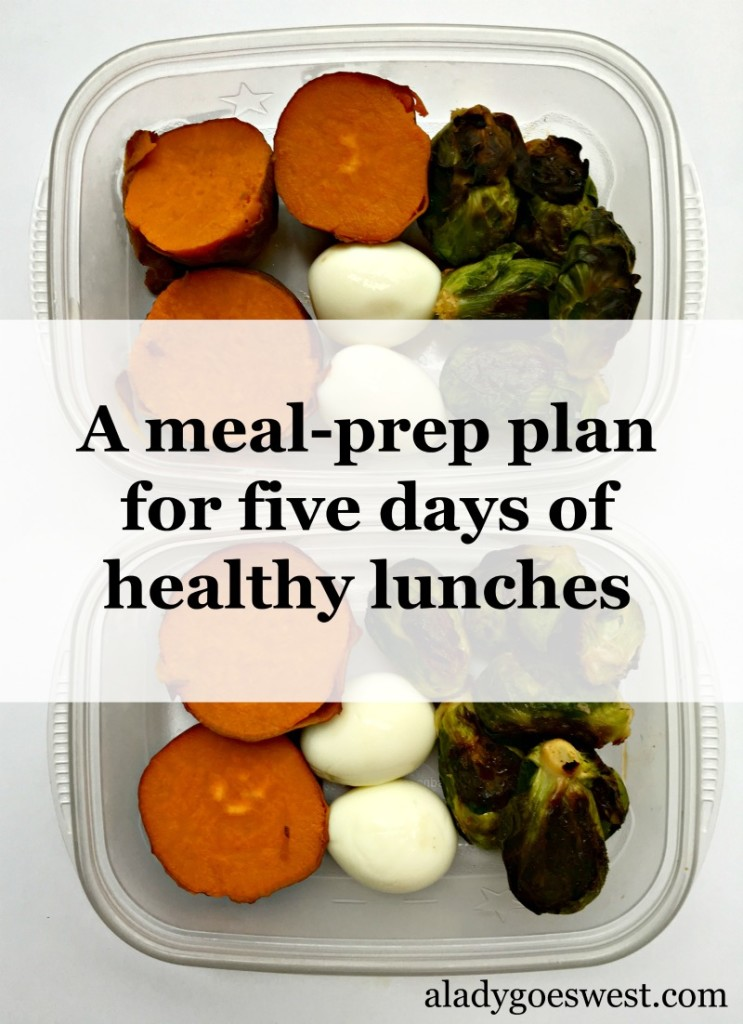 Meal-prep plan for five days of healthy lunches by A Lady Goes West