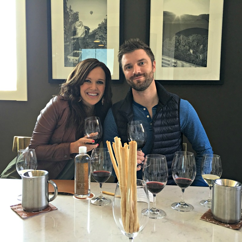 Ashley and Dave at Clos du Val in Napa