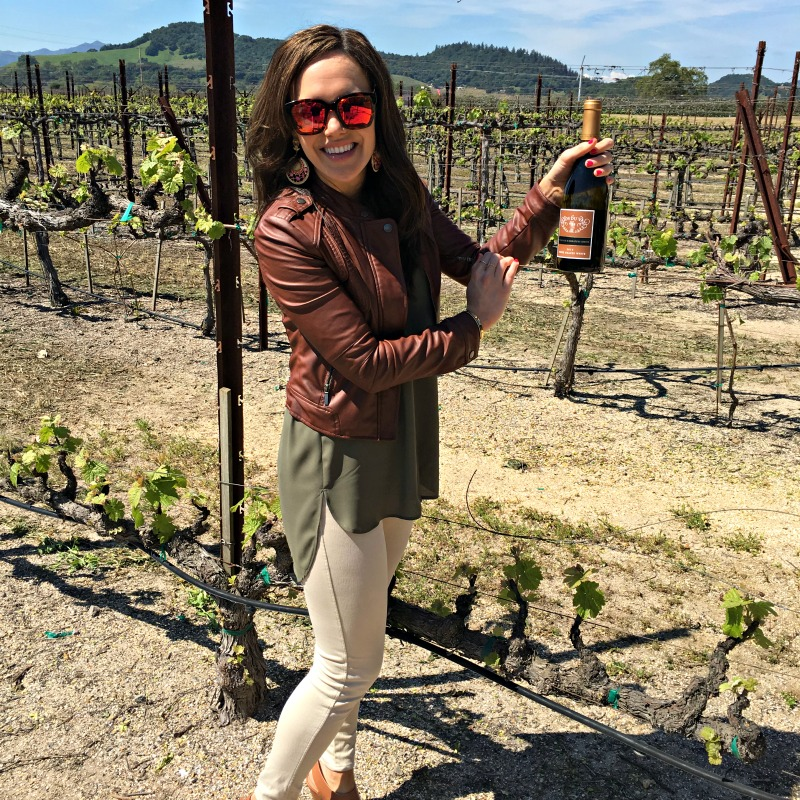 Ashley in Napa at Clos du Val