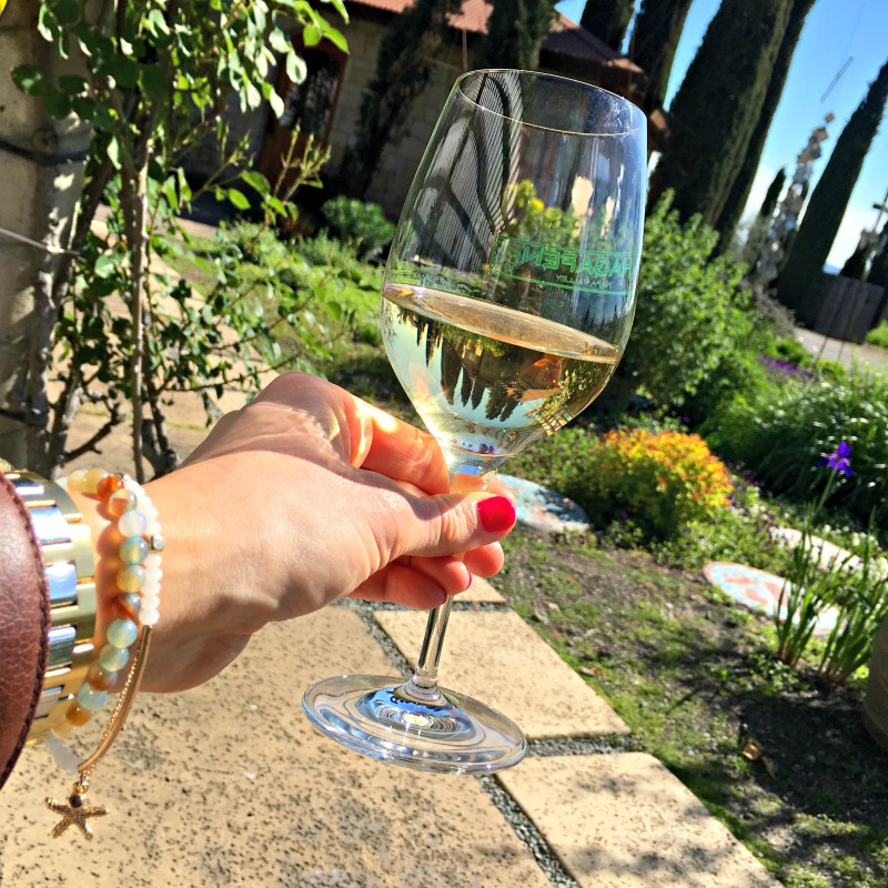 Cheers at Hagafen Cellars in Napa