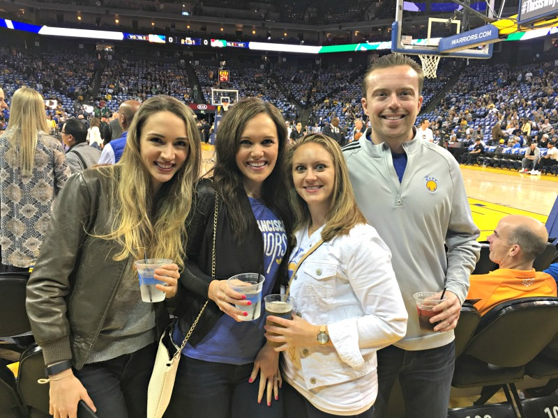 Friends at the Warriors game by A Lady Goes West