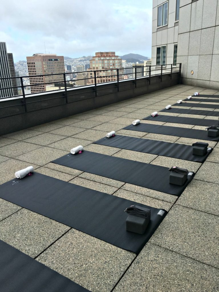 Sky Deck Yoga in San Francisco at the Loews Hotel by A Lady Goes West
