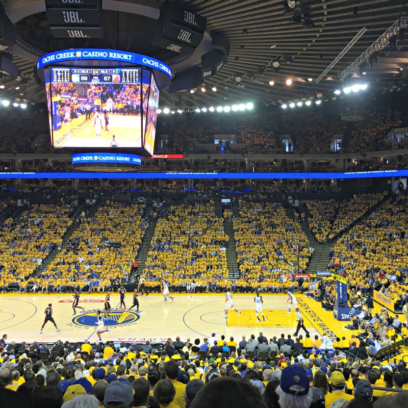 Warriors game round 2 by A Lady Goes West