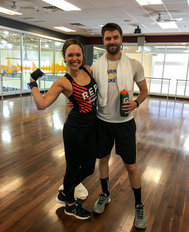 Ashley and Dave at BODYPUMP by A Lady Goes West