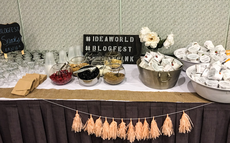 Breakfast bar at IDEA BlogFest by A Lady Goes West