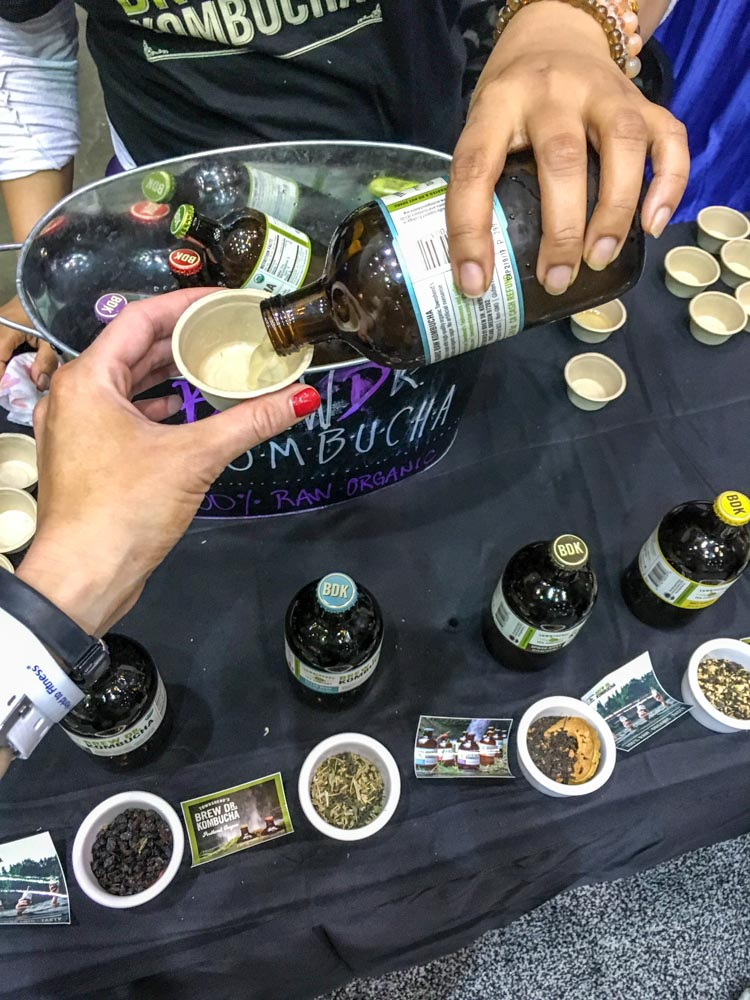 Kombucha tasting at IDEA BlogFest by A Lady Goes West