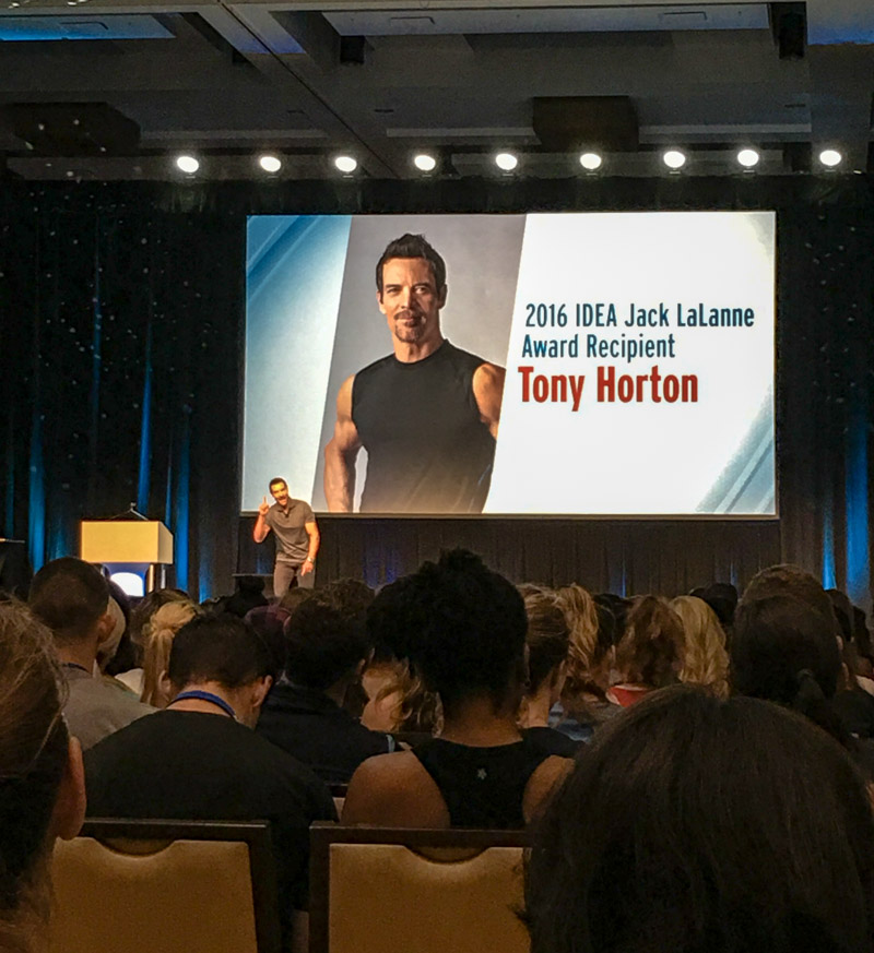 Tony Horton at 2016 IDEA BlogFest by A Lady Goes West