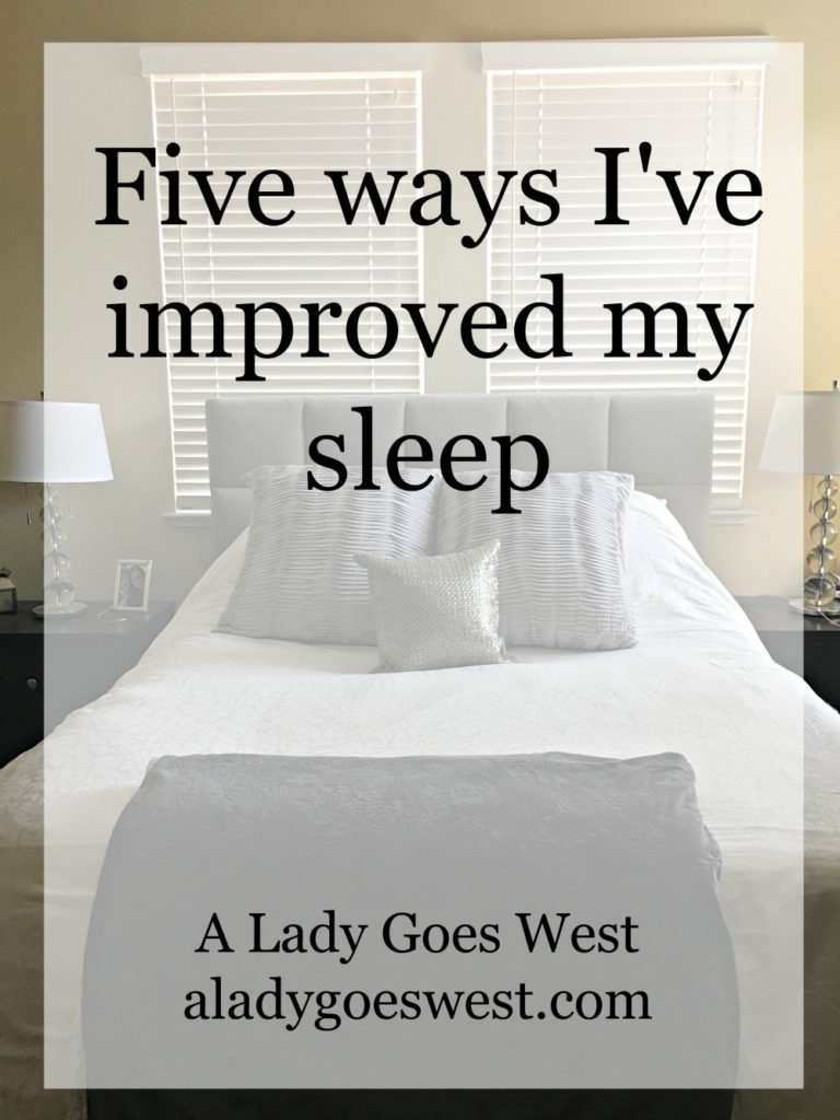 Five ways I've improved by sleep based on the book Sleep Smarter by A Lady Goes West