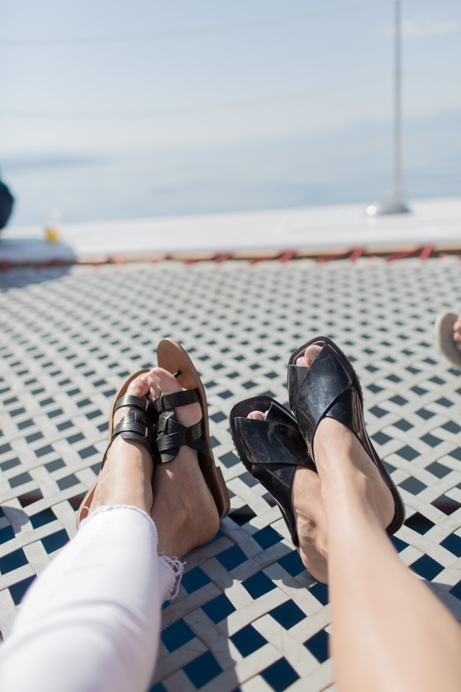 Feet on the cruise in Lake Tahoe by A Lady Goes West