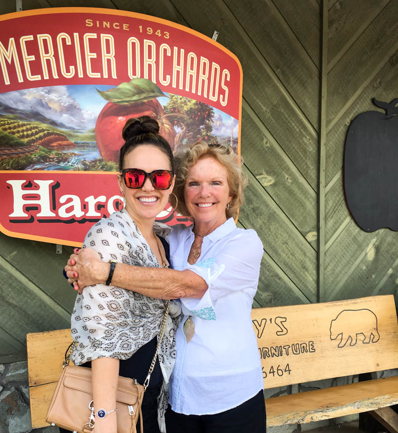 Ashley and Mom at Mercier Orchards