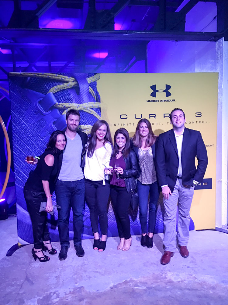 north beach dinner  under armour event  senspa visit and