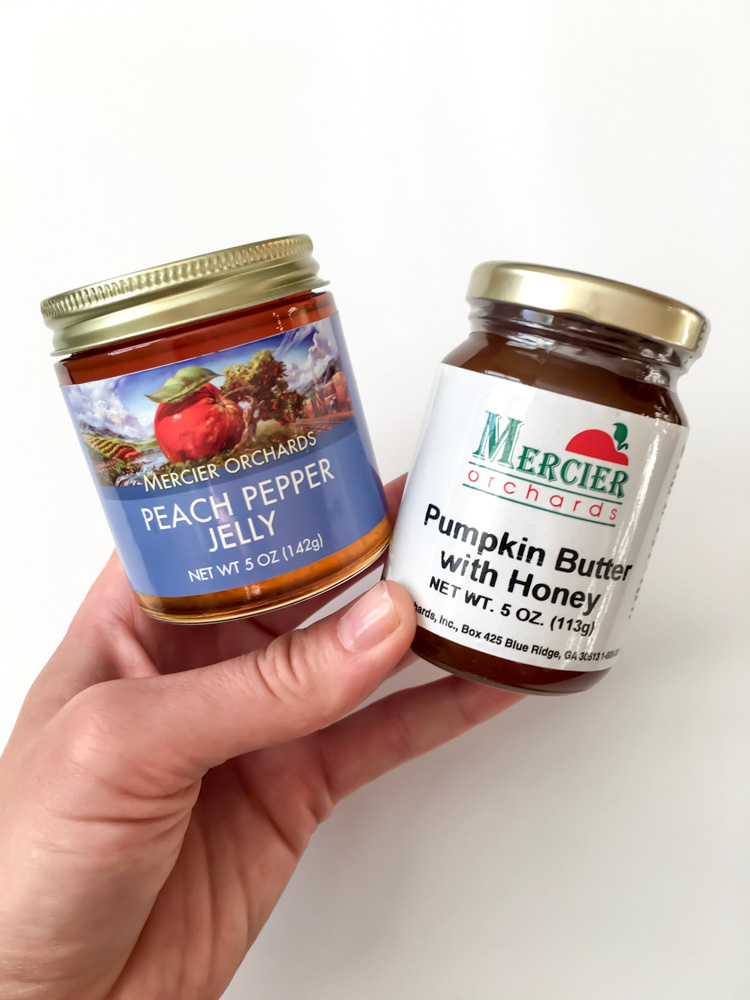 Mercier Orchards jams