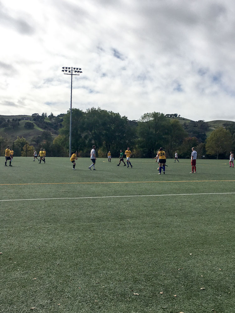 Soccer game by A Lady Goes West