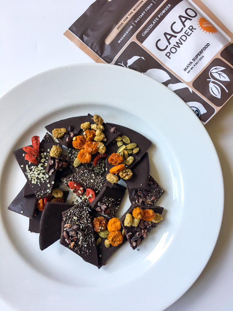 Superfood cacao bark by A Lady Goes West