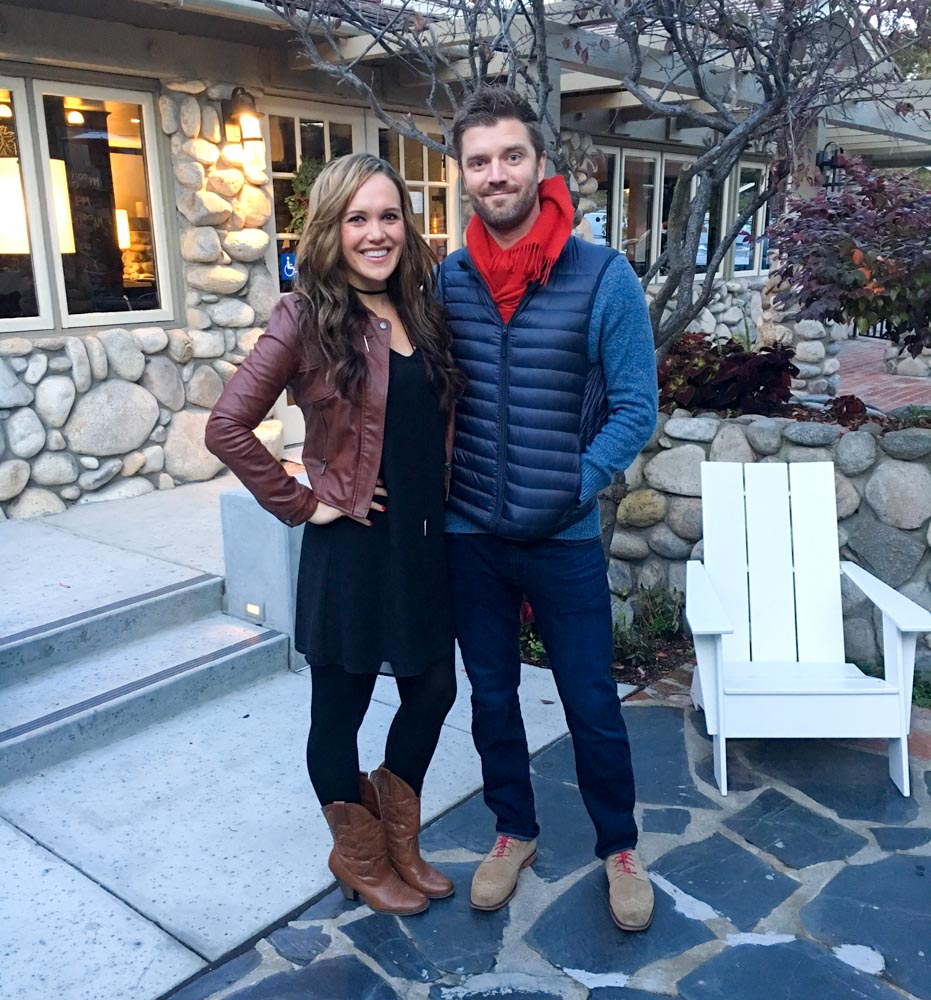 Thanksgiving couple in Carmel by A Lady Goes West