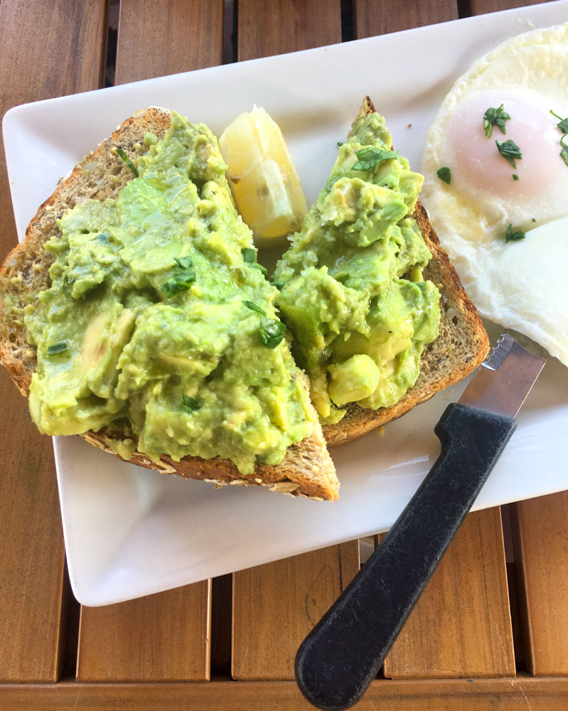 Avocado toast at First Watch by A Lady Goes West