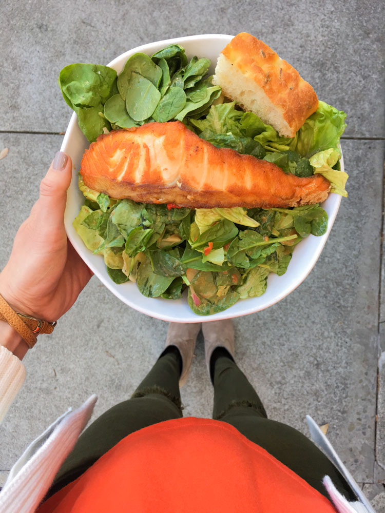Salmon salad lunch by A Lady Goes West